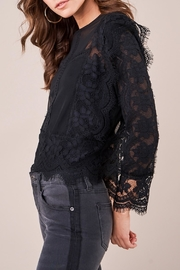 Sugar Lips Sheer Lace Blouse - Side cropped