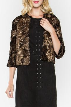 Sugar Lips Shimmer Faux Fur Coat - Product List Image