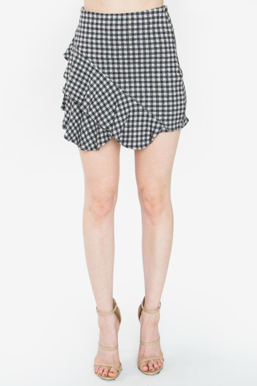Sugar Lips Shirley Gingham Skirt - Main Image