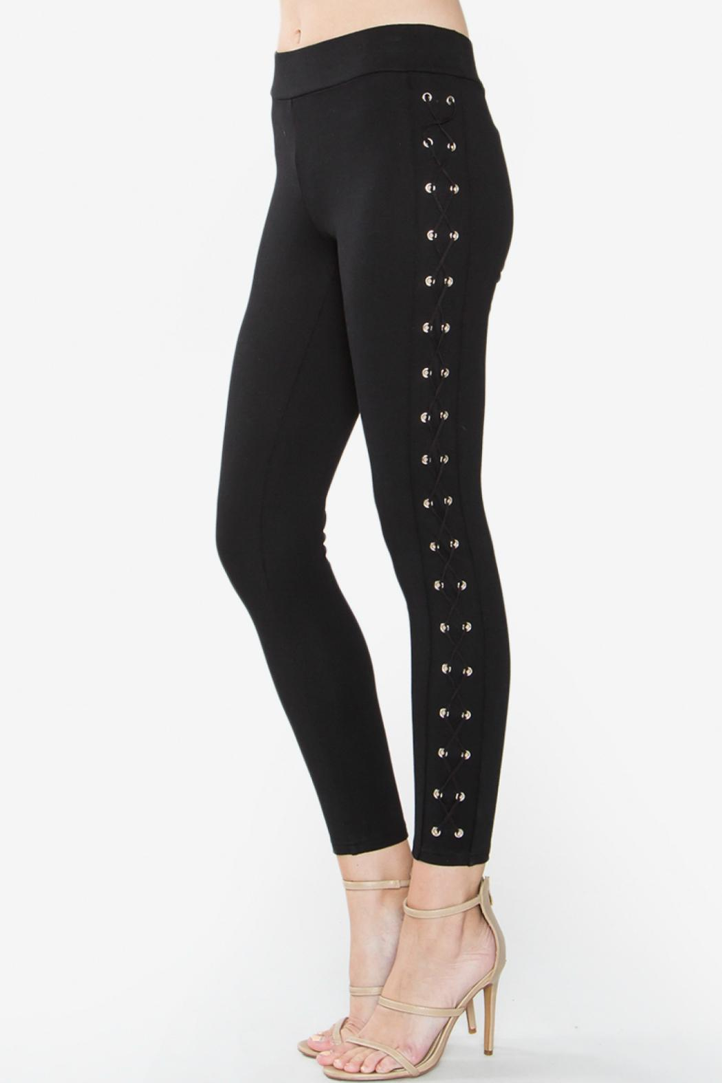 Well-known Sugar Lips Side Lace Up Leggings from Florida by Covetique  DD92