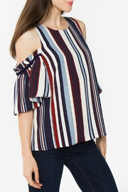 Sugar Lips Isabel Striped  Top - Front full body