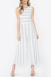 Sugar Lips Striped Linen Jumpsuit - Product Mini Image