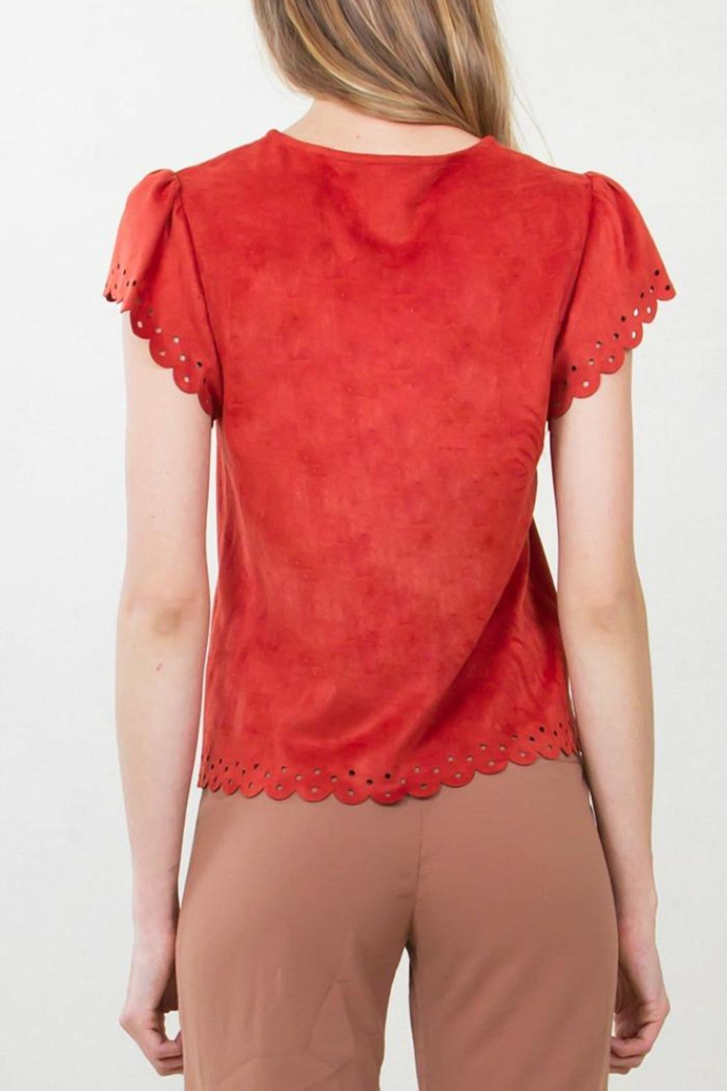 Sugar Lips Suede Top - Front Full Image
