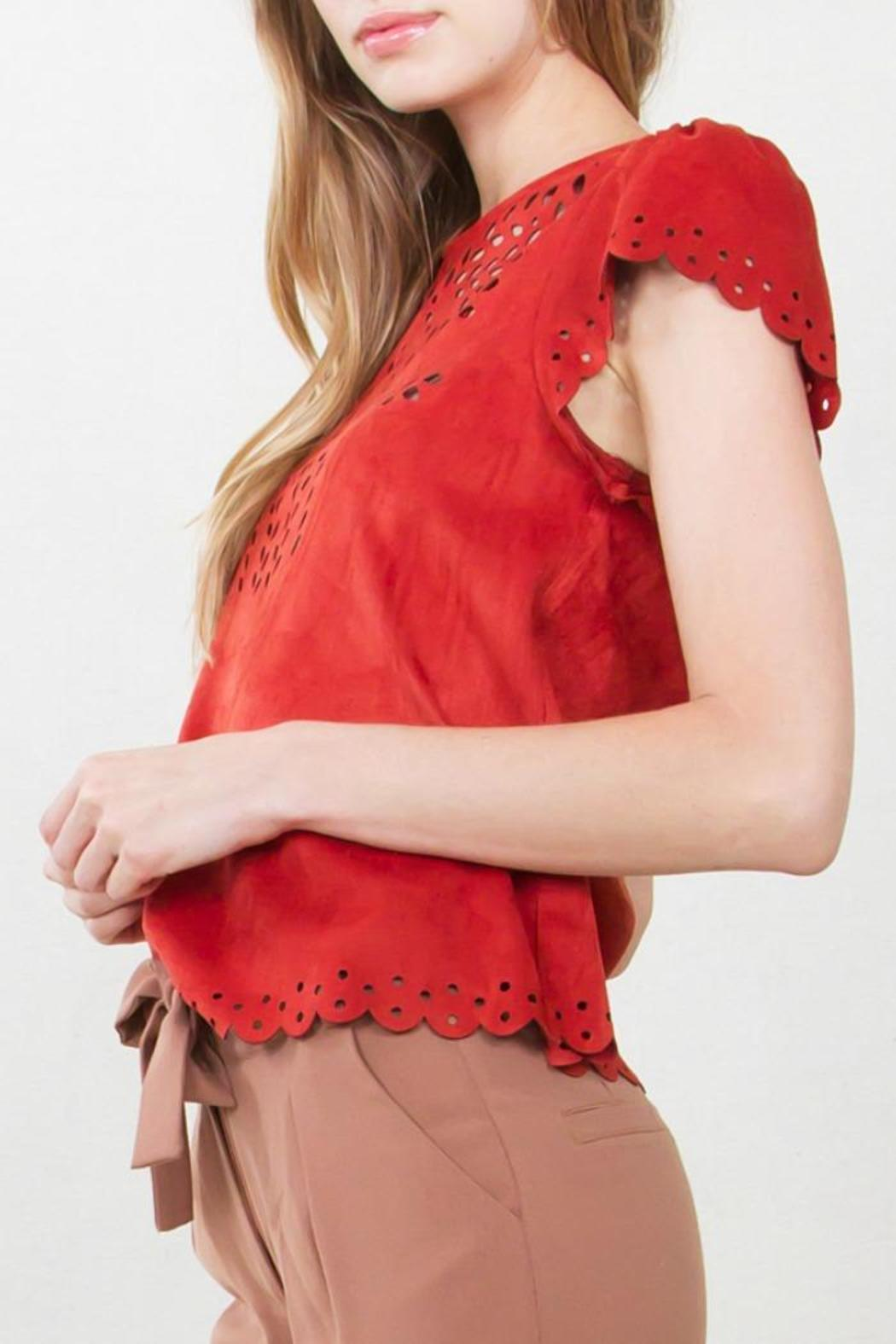 Sugar Lips Suede Top - Side Cropped Image