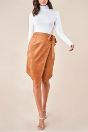 Sugar Lips Suede Wrap Skirt - Front cropped