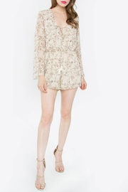 Sugar Lips Taupe Notch Romper - Product Mini Image