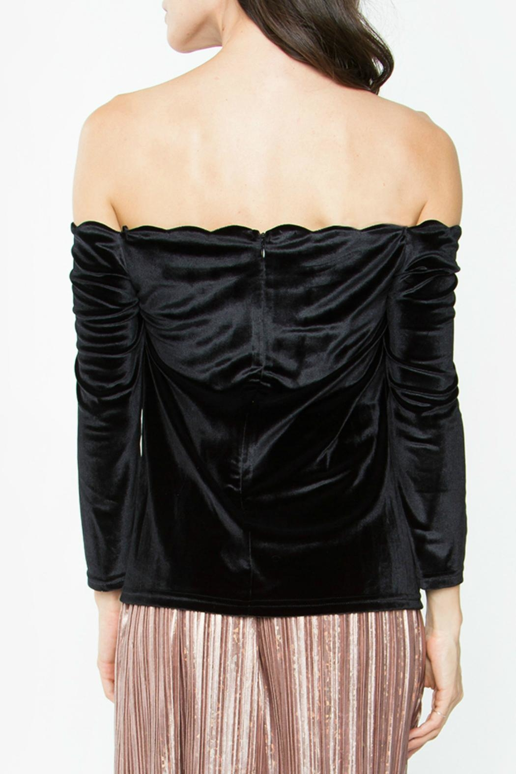 Sugar Lips Velvet Off Shoulder Top - Front Full Image