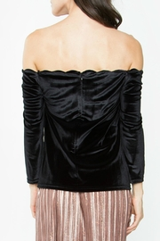 Sugar Lips Velvet Off Shoulder Top - Front full body