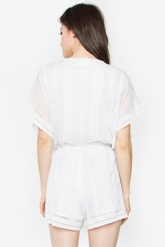 Sugar Lips White Chiffon Romper - Alternate List Image