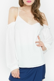 Sugar Lips Halter Cold Shoulder Top - Product Mini Image