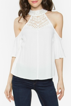Sugar Lips White Cold Shoulder Top - Product List Image