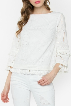 Shoptiques Product: White Eyelet Top