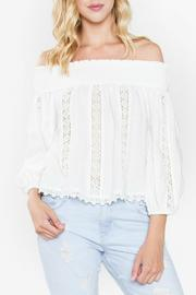 Sugar Lips White Off The Shoulder Top - Product Mini Image