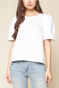 Sugar Lips White Volume-Sleeve Top - Product List Image