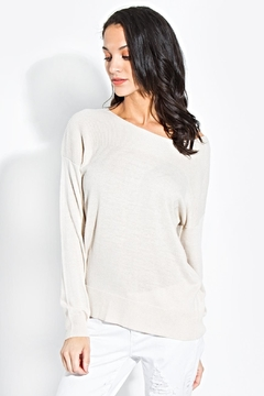 Sugar Lips Wide-Neck Knit Sweater - Product List Image