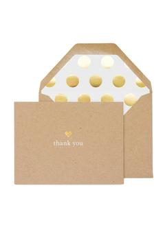 Shoptiques Product: Gold Thanks Card