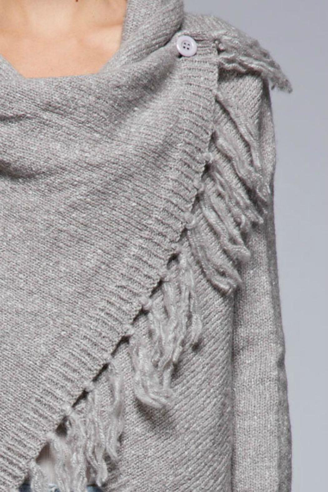 SugarBelle Button Fringe Sweater - Side Cropped Image