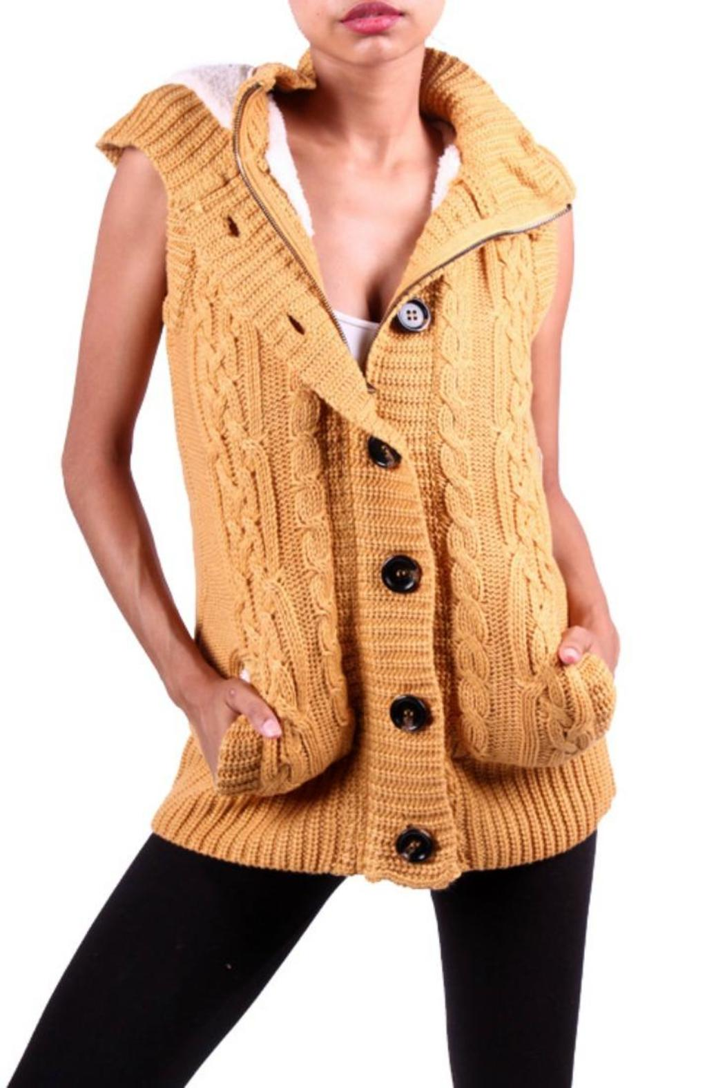 SugarBelle Hooded-Sweater Vest from South Carolina — Shoptiques