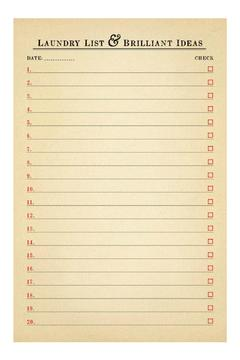 Sugarboo Designs Laundry List Notepad - Alternate List Image