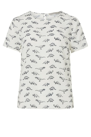 Sugarhill Boutique Dinosaur Print Top - Front cropped