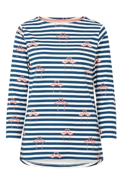 Sugarhill Boutique Flamingo Embroidered Top - Product List Image