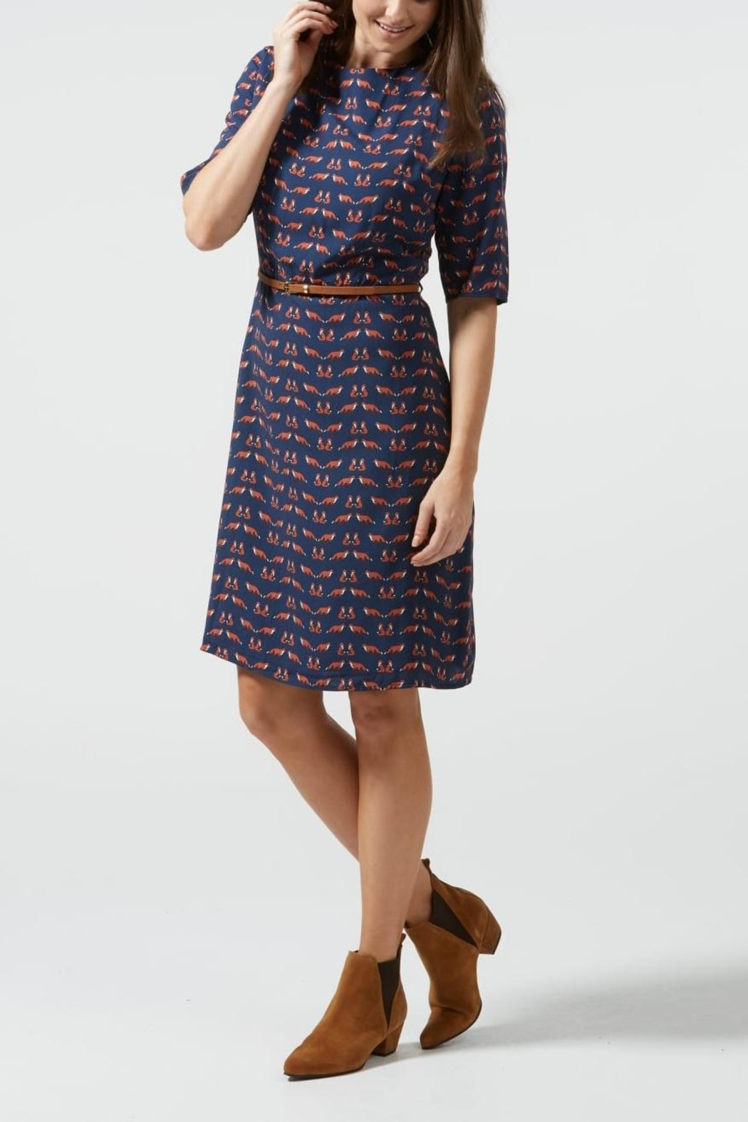 Sugarhill Boutique Fox Skater Dress - Front Full Image