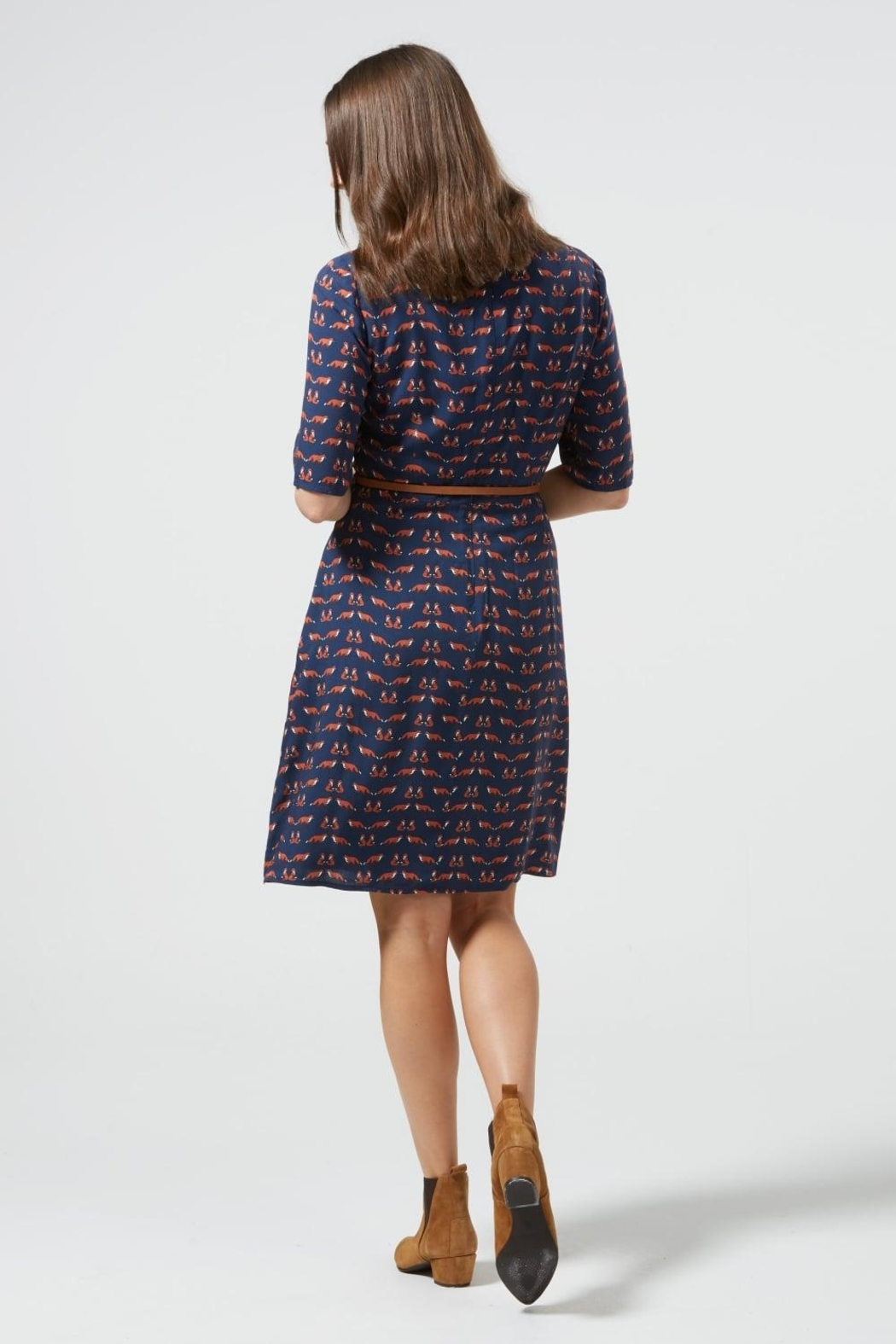 Sugarhill Boutique Fox Skater Dress - Side Cropped Image