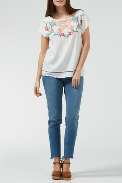 Sugarhill Boutique Tropical Embroidered Top - Product List Image