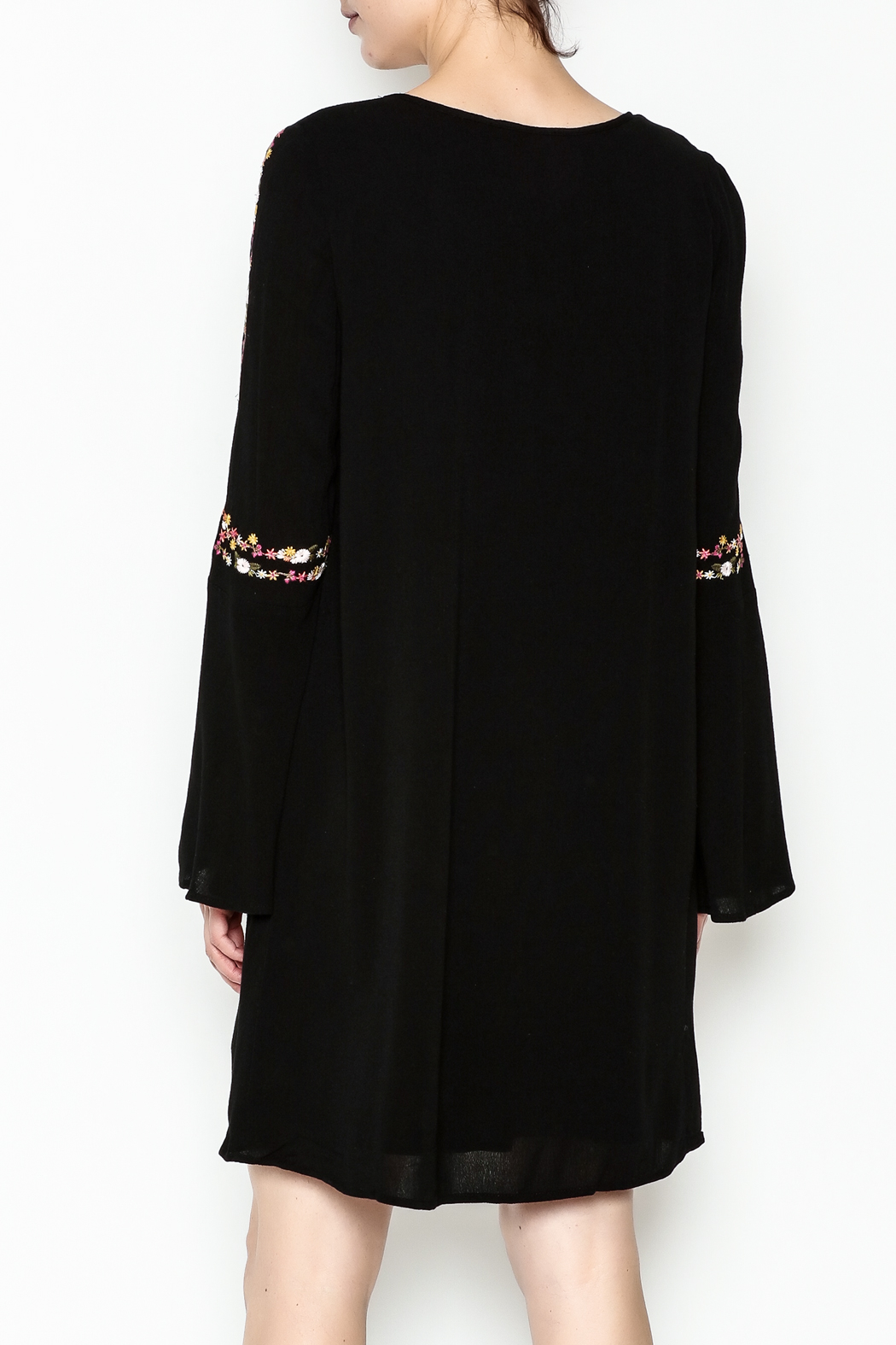 Sugarlips Alla Embroidered Dress - Back Cropped Image