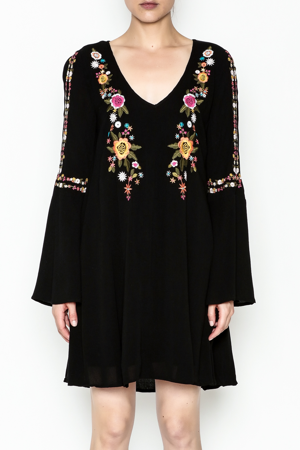 Sugarlips Alla Embroidered Dress - Front Full Image