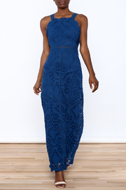 Sugarlips Blue Lace Maxi Dress - Product Mini Image