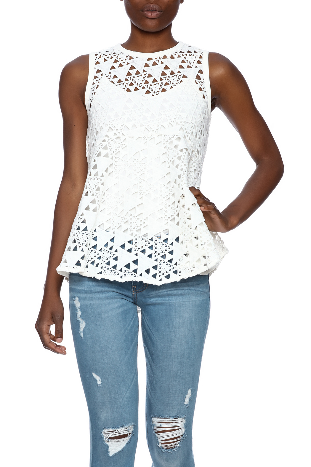 Sugarlips Bailey Peplum Top - Front Cropped Image