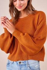 Sugarlips Balloon Sleeve Sweater - Front cropped