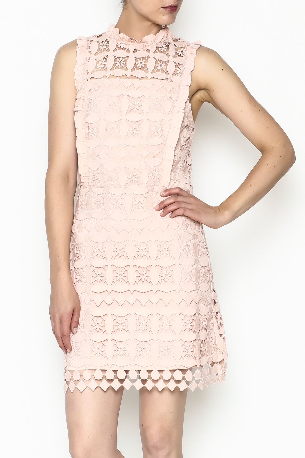 Sugarlips Becca Crochet Dress - Front Cropped Image