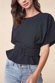 Sugarlips Belted Peplum Top - Product Mini Image