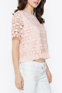 Sugarlips Blush Crochet Top - Product List Image