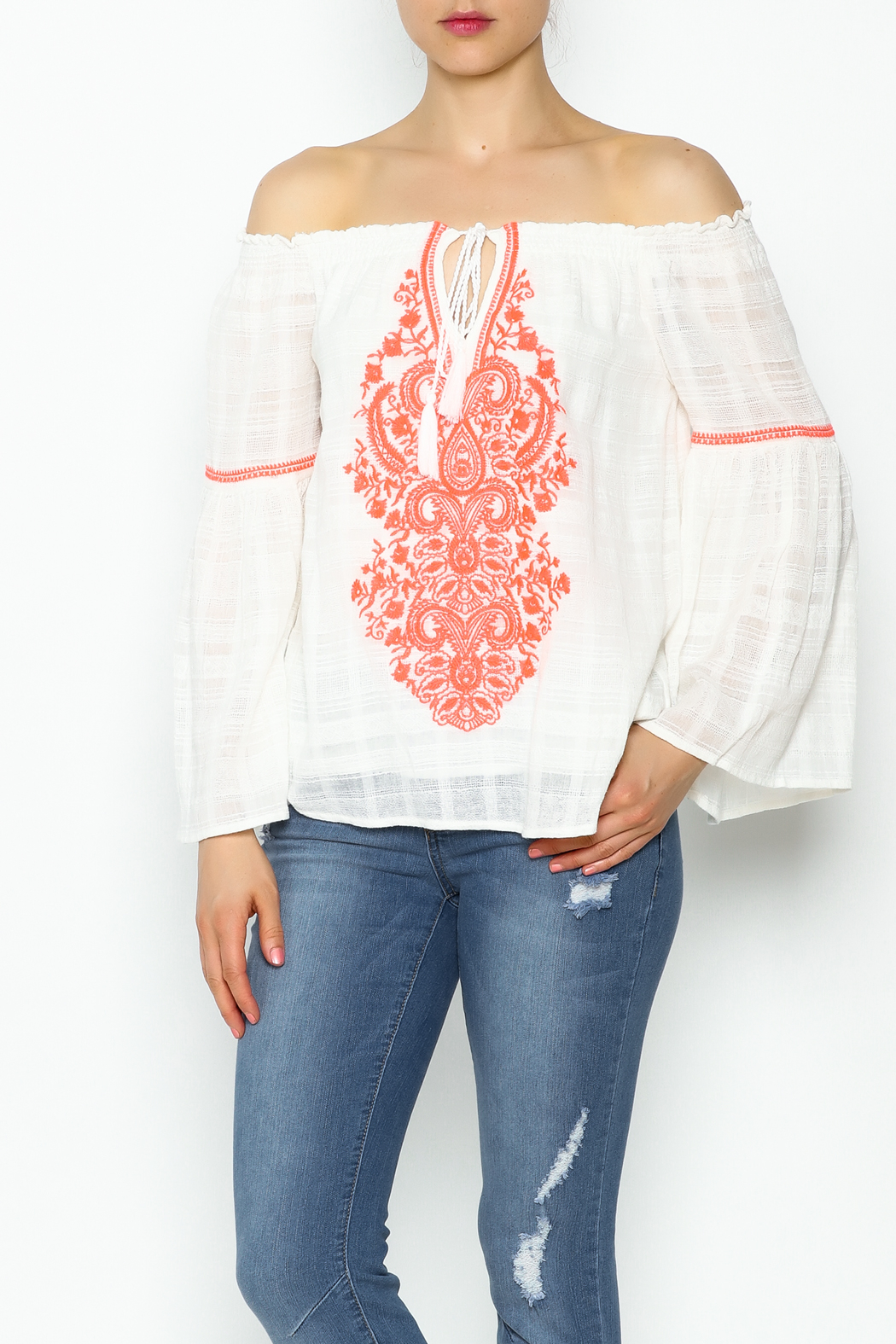 Sugarlips Brianna Boho Top - Front Cropped Image