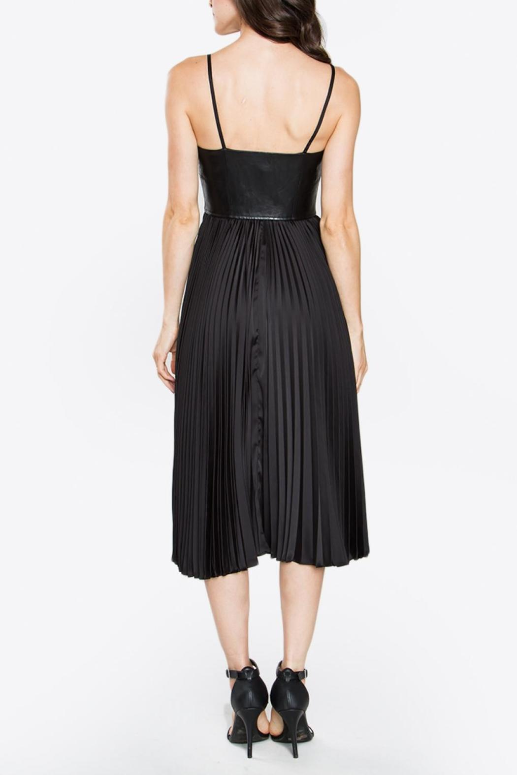 Sugarlips Bustier Pleated Dress - Side Cropped Image