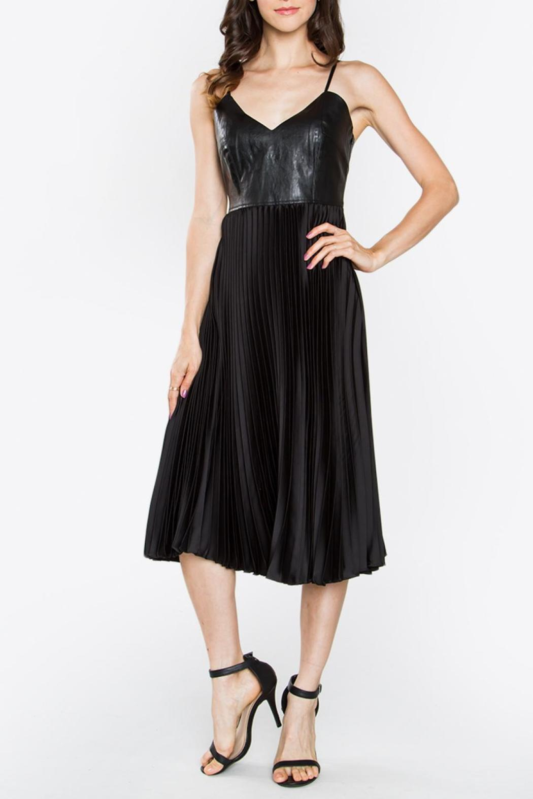 Sugarlips Bustier Pleated Dress - Front Full Image