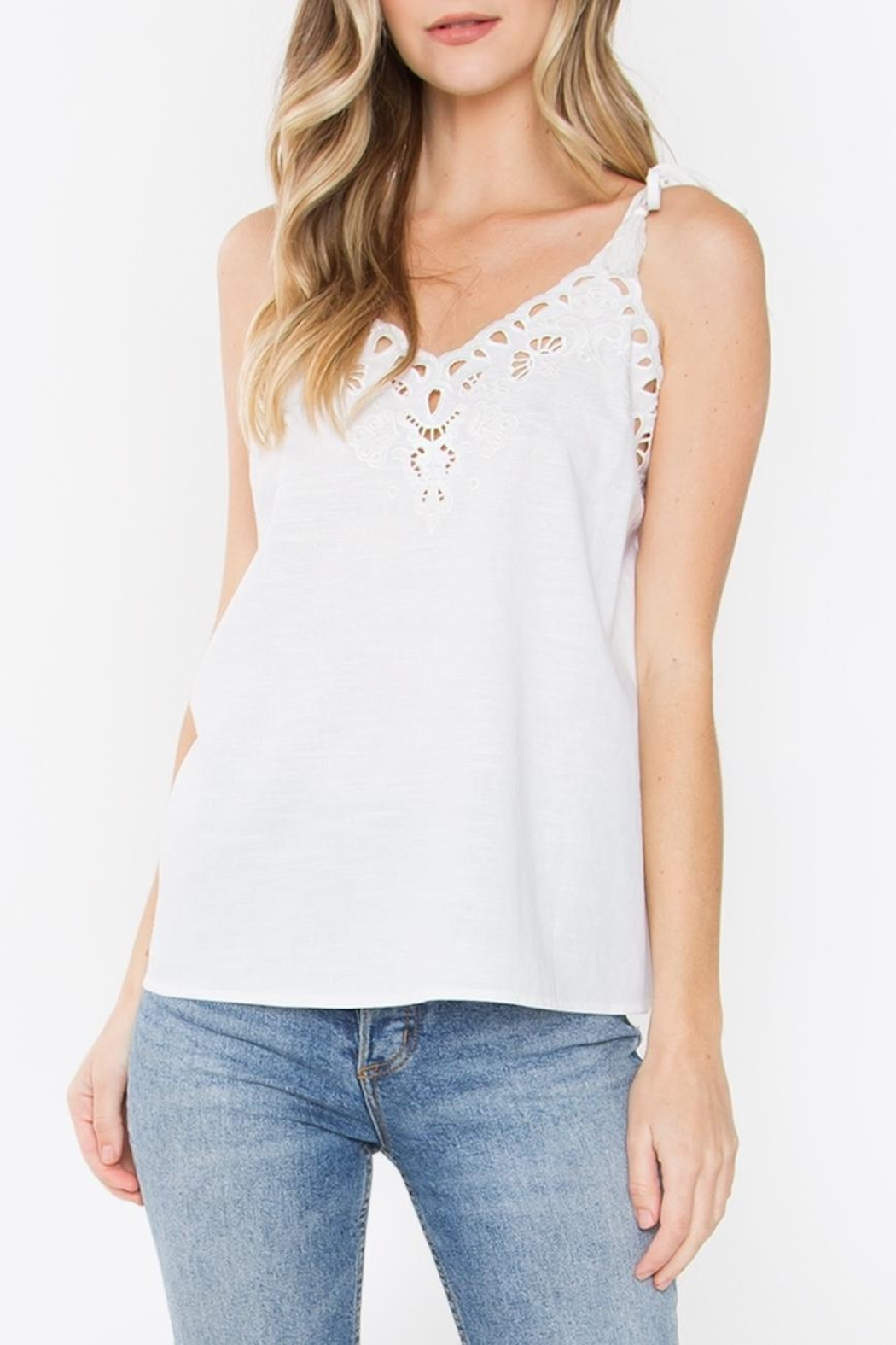 Sugarlips Callie Embroidered Tank - Main Image
