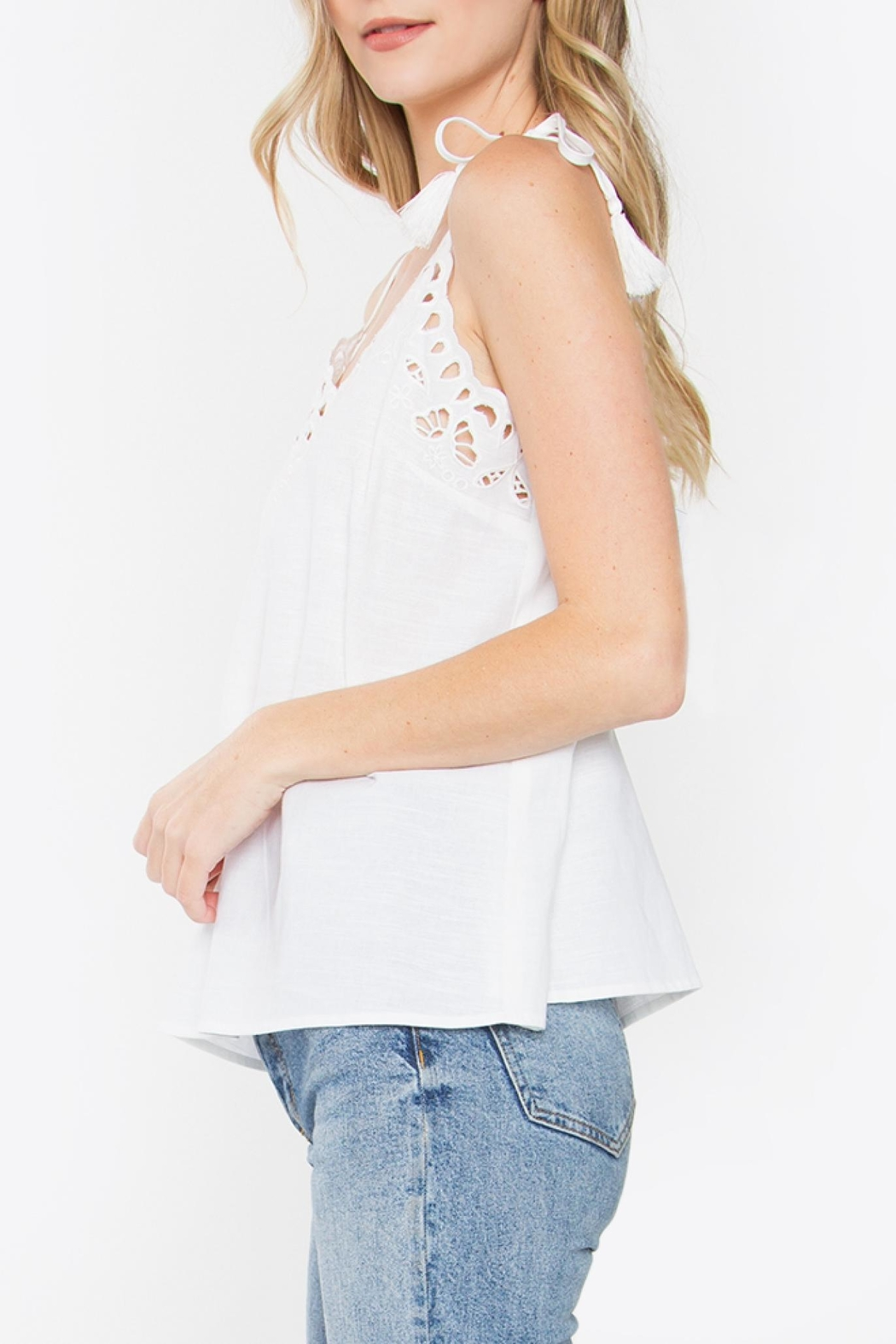 Sugarlips Callie Embroidered Tank - Front Full Image