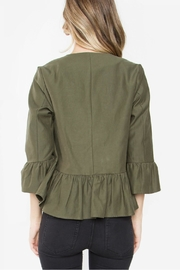 Sugarlips Cropped Ruffle Jacket - Side cropped