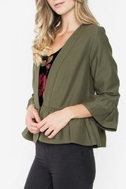 Sugarlips Cropped Ruffle Jacket - Front full body