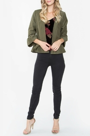 Sugarlips Cropped Ruffle Jacket - Front cropped