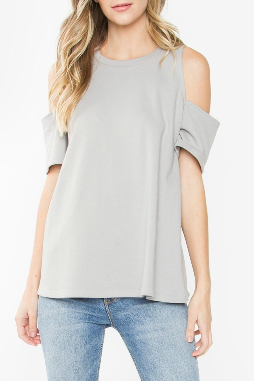 Sugarlips Cuff Sleeve Top - Front Cropped Image