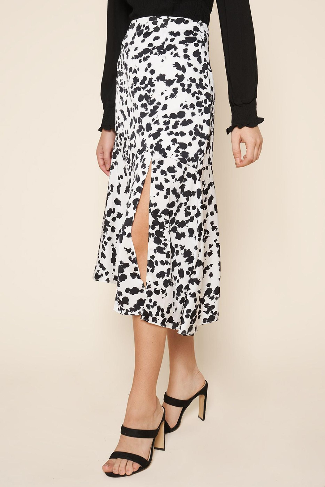 Sugarlips Dotted-Print Midi Skirt - Front Full Image