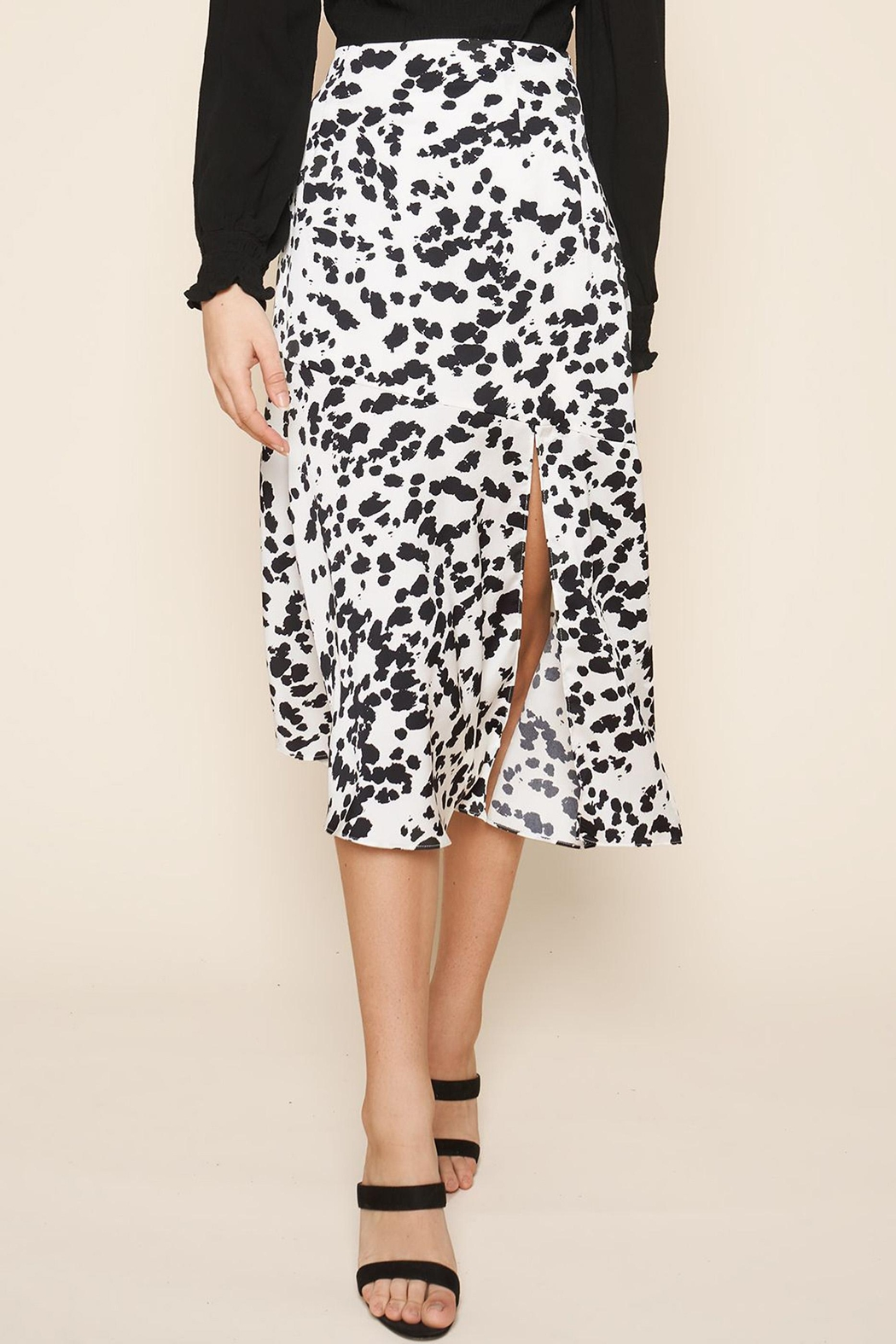 Sugarlips Dotted-Print Midi Skirt - Front Cropped Image