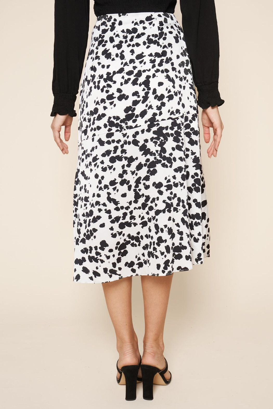 Sugarlips Dotted-Print Midi Skirt - Back Cropped Image
