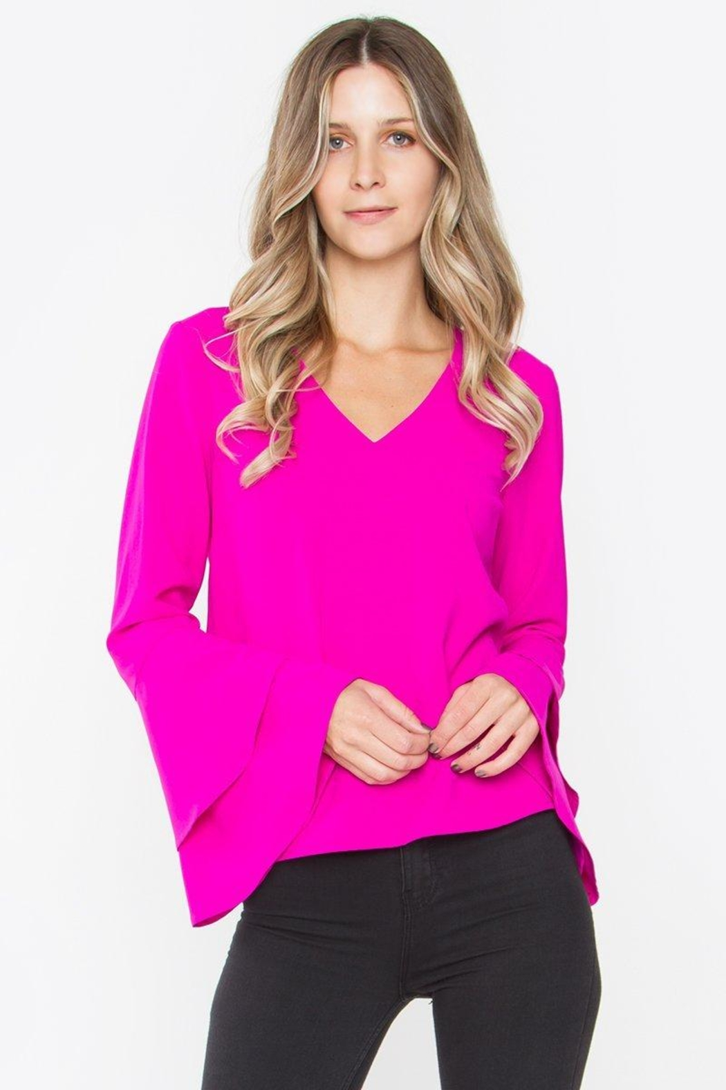 Sugarlips Elia Ruffle Top - Front Cropped Image