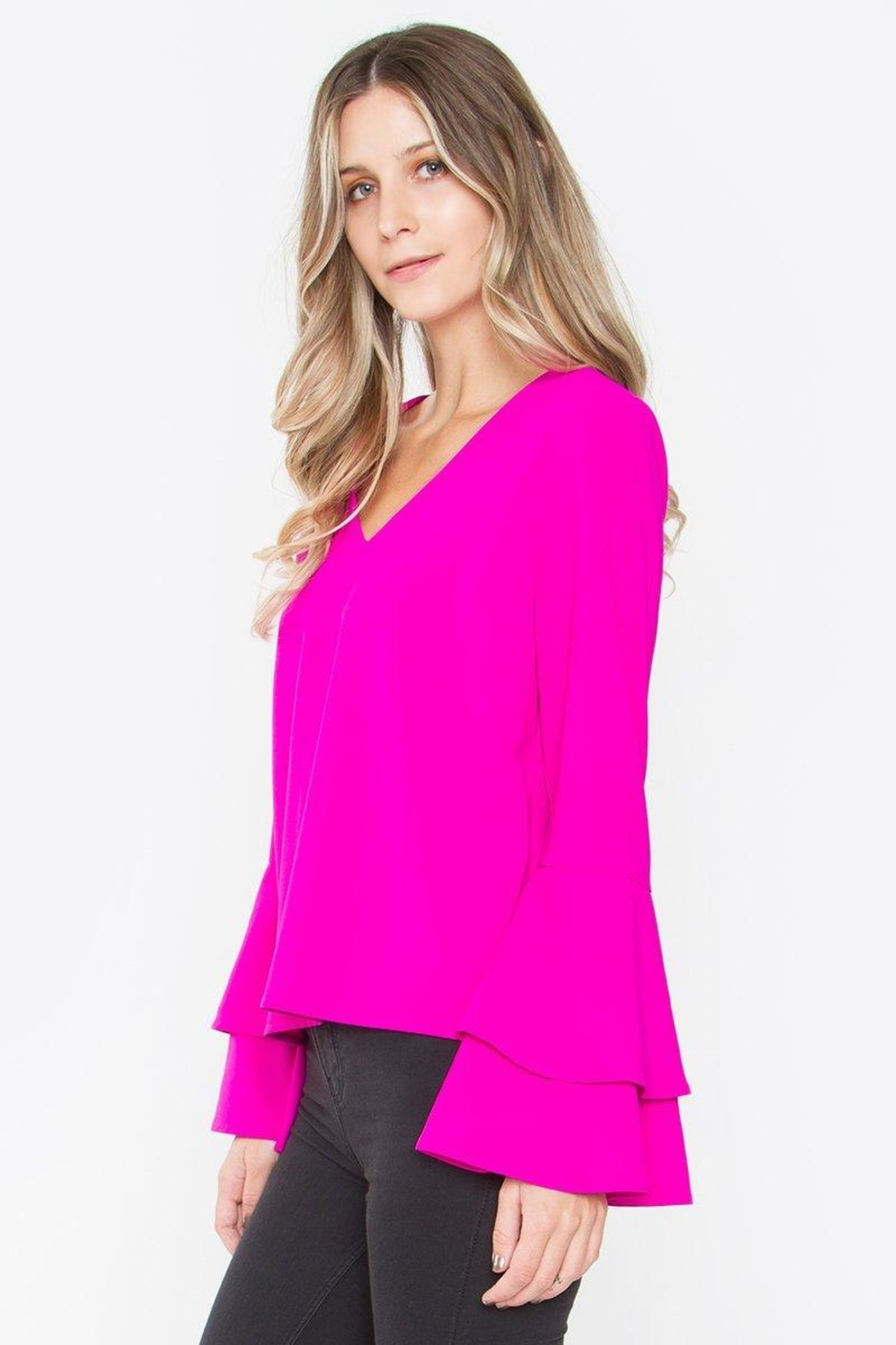 Sugarlips Elia Ruffle Top - Front Full Image